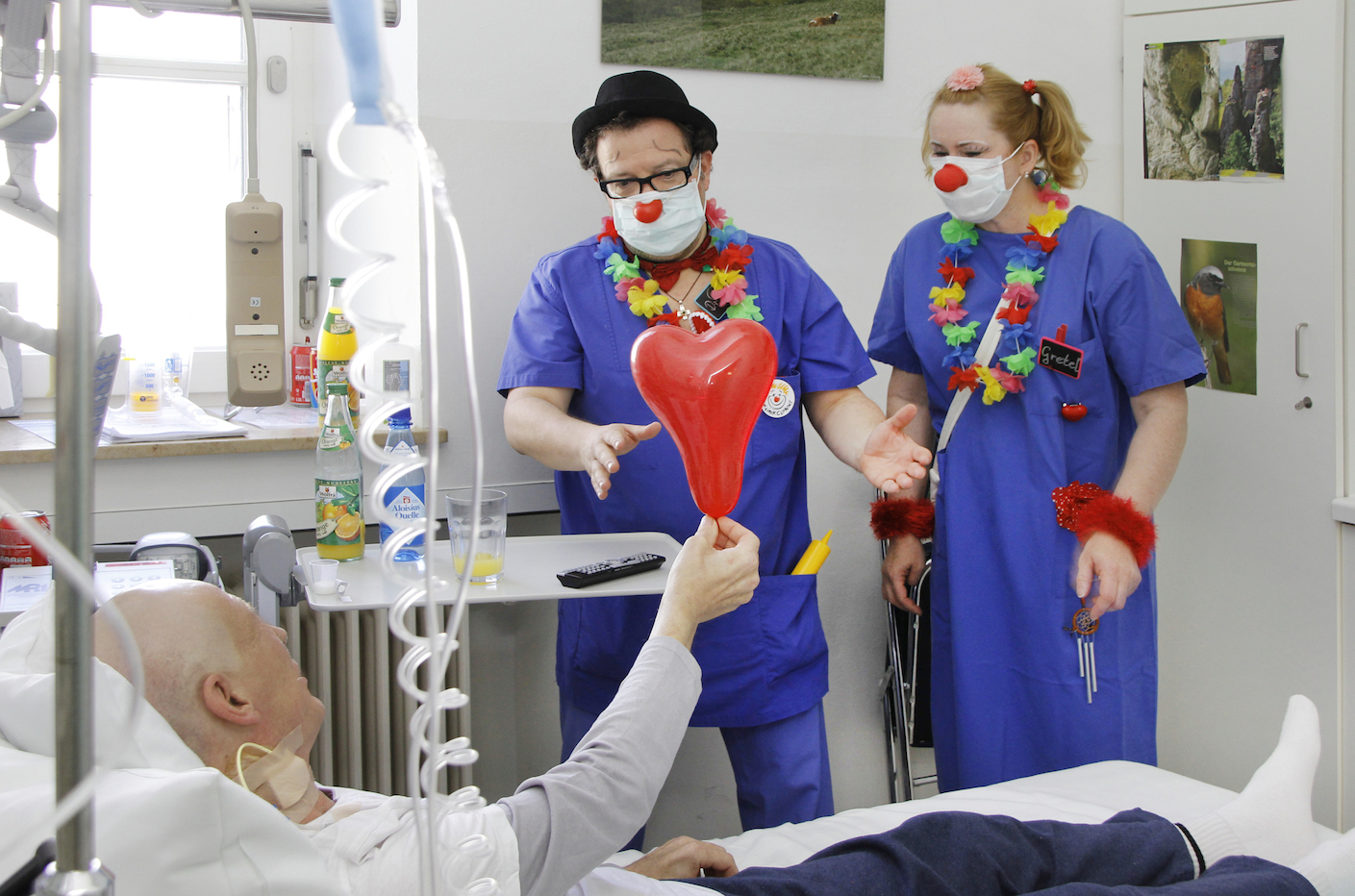 Klinik Clowns in der Station 3-0 1 X